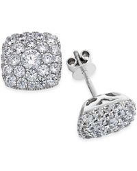Macy's - Metallic Diamond Stud Earrings (1-7/8 Ct. T.w.) In 14k White Gold - Lyst