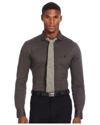 Polo Ralph Lauren | Gray Knit Estate Dress Shirt for Men | Lyst
