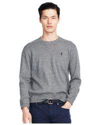 Polo Ralph Lauren | Gray Cotton Crew-neck Sweatshirt for Men | Lyst