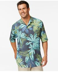 Tommy Bahama - Blue Keep Palm And Carry On Silk Short-sleeve Shirt for Men - Lyst