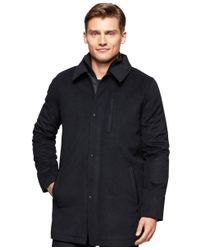 Calvin Klein | Gray Men's Wool-blend Car Coat for Men | Lyst