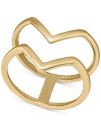 Macy's | Metallic Openwork V-ring In 14k Gold | Lyst