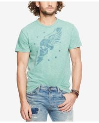 Denim & Supply Ralph Lauren - Blue Men's Winged-skull Graphic T-shirt for Men - Lyst