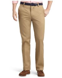 Izod | Natural Madison Slim-fit No-iron Flat Front Chino Pants for Men | Lyst