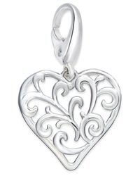 Giani Bernini | Metallic Filigree Heart Charm In Sterling Silver | Lyst