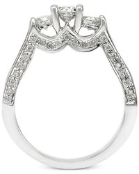 Macy's - Metallic Diamond Three-stone Channel-set Engagement Ring (1-1/2 Ct. T.w.) In 14k White Gold - Lyst