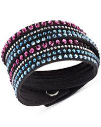 Swarovski | Multicolor Silver-tone Slake Crystal Wrap Bracelet | Lyst