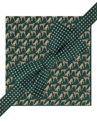 Tommy Hilfiger | Green Dots And Boxers Pre-tied Bow Tie And Pocket Square Set for Men | Lyst