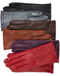 Charter Club | Multicolor Cashmere Lined Leather Tech Gloves, Only At Macy's | Lyst
