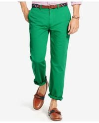 Polo Ralph Lauren - Green Men's Classic-fit Flat-front Chino Pants for Men - Lyst