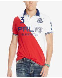 Polo Ralph Lauren - Orange Men's Black Watch Custom-fit Pieced Polo Shirt for Men - Lyst