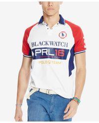 Polo Ralph Lauren - Blue Men's Black Watch Custom-fit Pieced Polo Shirt for Men - Lyst