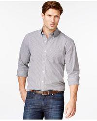 Cutter & Buck | Gray Big And Tall Men's Gingham Button-down Shirt for Men | Lyst