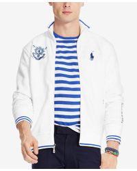 Polo Ralph Lauren - White Men's Black Watch Double-knit Tech Jacket for Men - Lyst