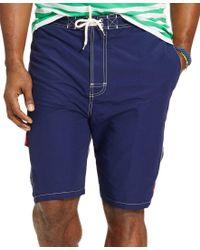 Polo Ralph Lauren | Blue Men's Big And Tall Kailua Swim Trunks for Men | Lyst