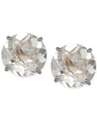 Macy's - Natural White Topaz (2-1/10 Ct. T.w.) Stud Earrings In 14k White Gold - Lyst