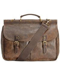 Patricia Nash | Brown Men's Leather Dowel Briefcase | Lyst