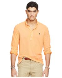 Polo Ralph Lauren | Orange Men's Featherweight Mesh Polo Shirt for Men | Lyst