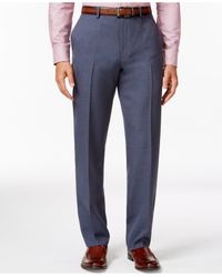 Alfani | Gray Big And Tall Steel-blue Slim Flat-front Pants, Only At Macy's for Men | Lyst