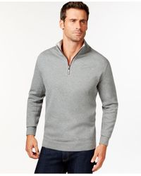 Tommy Bahama | Gray Men's Big And Tall Flip Side Reversible Zip Neck Sweater for Men | Lyst