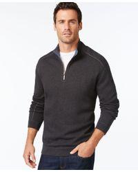 Tommy Bahama - Gray Flip Side Reversible Zip Neck Sweater for Men - Lyst