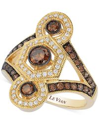 Le Vian | Metallic Diamond (2/5 Ct. T.w.) And Multi-gemstone (2-1/2 Ct. T.w.) Ring In 14k Rose Gold | Lyst