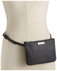 Michael Kors | Black Michael Signature Fanny Pack, A Macy's Exclusive Style | Lyst
