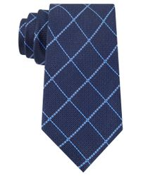 Tommy Hilfiger | Blue Grenadine Grid Tie for Men | Lyst