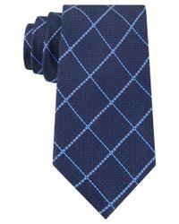 Tommy Hilfiger - Blue Grenadine Grid Tie for Men - Lyst