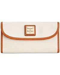 Dooney & Bourke   White Lizard-embossed Continental Clutch Wallet, A Macy's Exclusive Style   Lyst