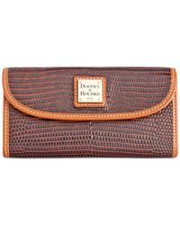 Dooney & Bourke   Brown Lizard-embossed Continental Clutch Wallet, A Macy's Exclusive Style   Lyst