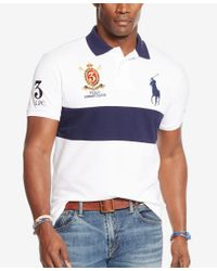 Polo Ralph Lauren - Blue Men's Big & Tall Classic-fit Banner-stripe Polo Shirt for Men - Lyst