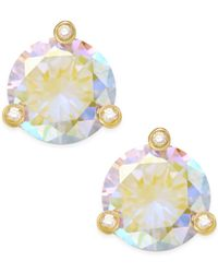 kate spade new york | Metallic Gold-tone Crystal Stud Earrings | Lyst