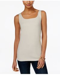Style & Co. | Natural Shelf-bra Tank Top, Only At Macy's | Lyst