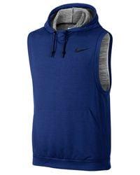 Nike - Blue Men's Dri-fit Sleeveless Hoodie for Men - Lyst