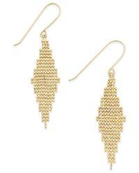 Macy's - Metallic Diamond-shaped Chain Drop Earrings In 10k Gold - Lyst
