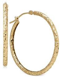 Macy's - Multicolor Round Tube Hoop Earrings In 10k Gold - Lyst