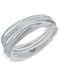 Swarovski - Metallic Crystal Pave Wrap Bracelet - Lyst
