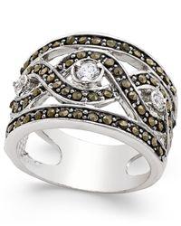 INC International Concepts | Metallic Silver-tone Crystal Braided Statement Ring | Lyst