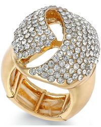 INC International Concepts | Metallic Rose Gold-tone Crystal Dome Stretch Ring | Lyst