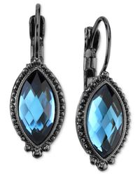 2028 | Metallic Hematite-tone & Blue Faceted Stone Drop Earrings, A Macy's Exclusive Style | Lyst