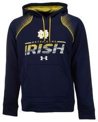 Under Armour - Blue Men's Notre Dame Fighting Irish Metallic Chrome Ink Hoodie for Men - Lyst