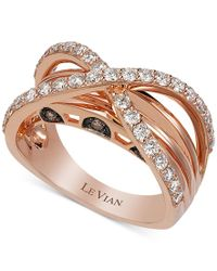 Le Vian | Multicolor Chocolatier Chocolate And Vanilla Diamond Ring (9/10 Ct. T.w.) In 14k Rose Gold | Lyst