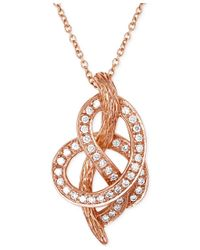 Le Vian - Multicolor Vanilla Knot Diamond Pretzel Pendant Necklace (1/4 Ct. T.w.) In 14k Rose Gold - Lyst