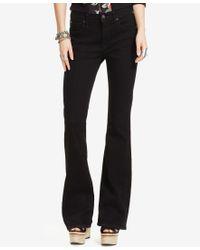 Denim & Supply Ralph Lauren - Reiser High-rise Flared Black Wash Jeans - Lyst