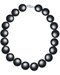Macy's - Black Onyx Necklace (20mm) In Sterling Silver - Lyst