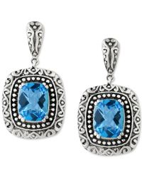 Effy Collection | Metallic Balissima By Effy Blue Topaz (5 Ct. T.w.) Drop Earrings In Sterling Silver | Lyst