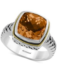 Effy Collection | Metallic Effy Citrine Ring (4 Ct. T.w.) In 18k Gold And Sterling Silver | Lyst