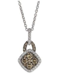 Le Vian | Metallic Chocolatier White And Chocolate Diamond Pendant Necklace (3/8 Ct. T.w.) In 14k White Gold | Lyst