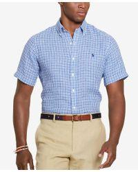 Polo Ralph Lauren | Blue Men's Men's Short-sleeve Checked Shirt for Men | Lyst